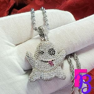 18k White Gold Pave Ghost Pendant